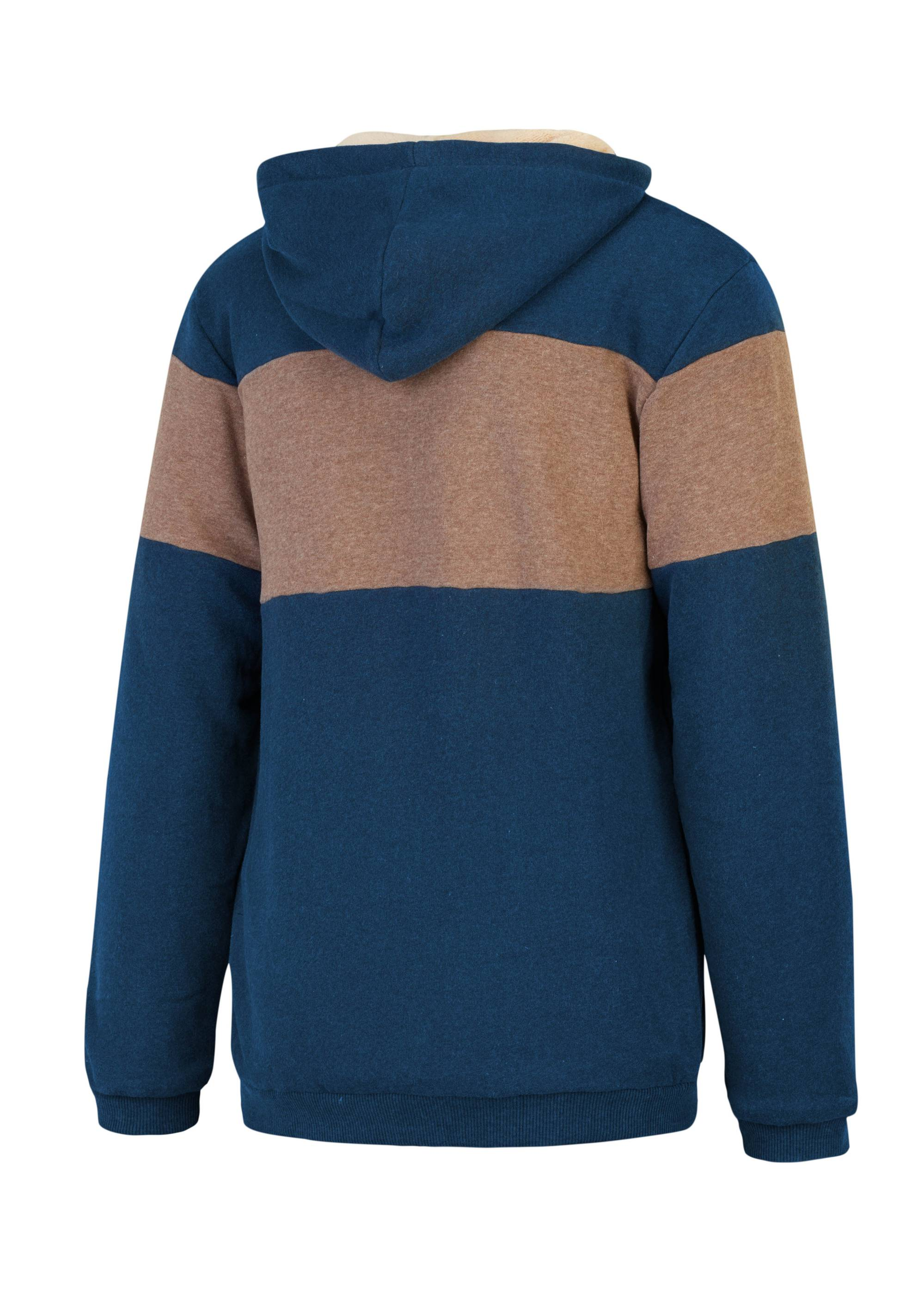 Sweat à capuche PICTURE Basement Plush Zip Dark Blue La