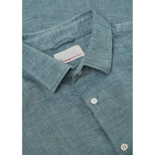 chemise ajustée coton bio et lin
