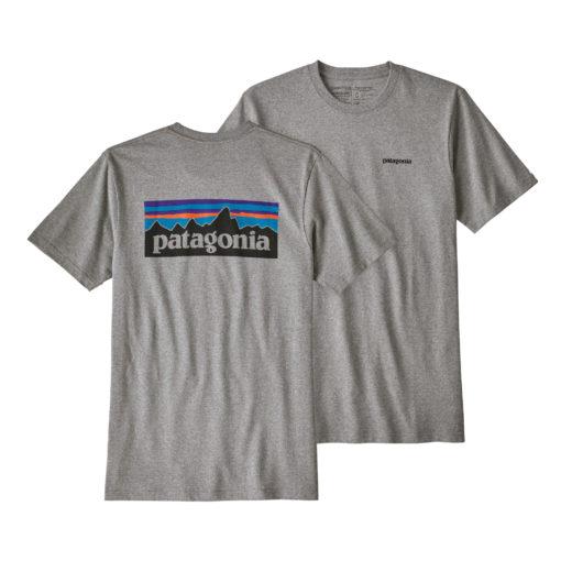 t shirt homme gris patagonia coton recyclé et polyester recyclé