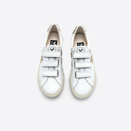 Chaussures VEJA dorées ESPLAR 3 Lock Extra White Gold