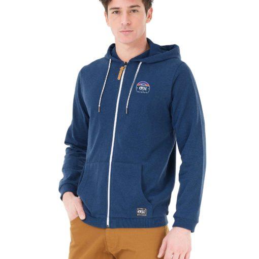 sweat à capuche zippé bleu pour homme picture