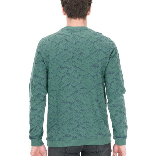 sweat col rond vert picture pour homme