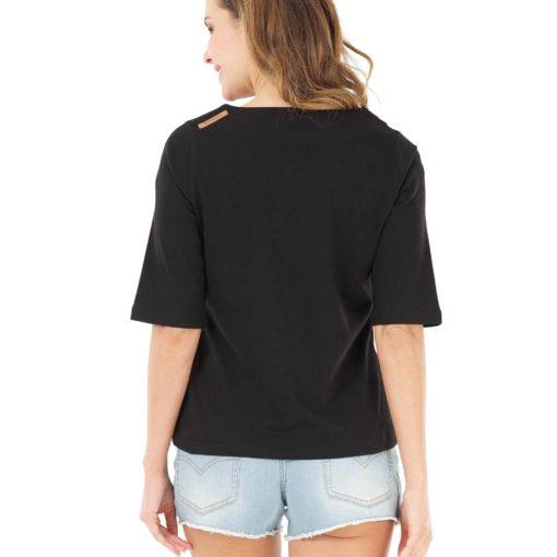tshirt noir femme 100% coton biologique