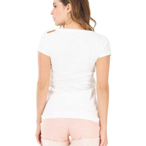 tshirt femme blnc 100% coton biologique