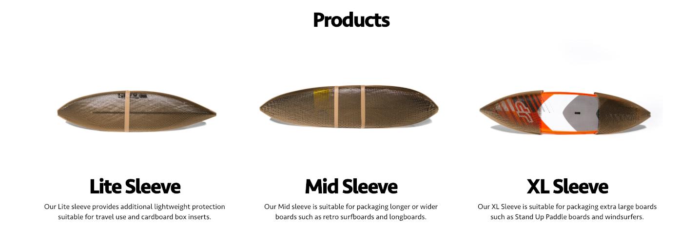 Flexi Ex emballage 100% recyclable pour les planches de surf