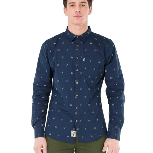 chemise picture homme bleu marine