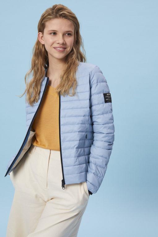 doudoune écologique femme bleu clair ecoalf