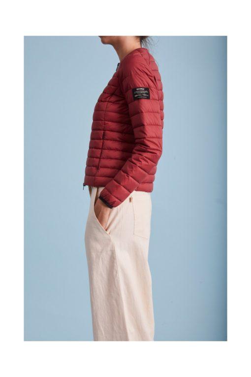 doudoune écologique femme rouge ecoalf