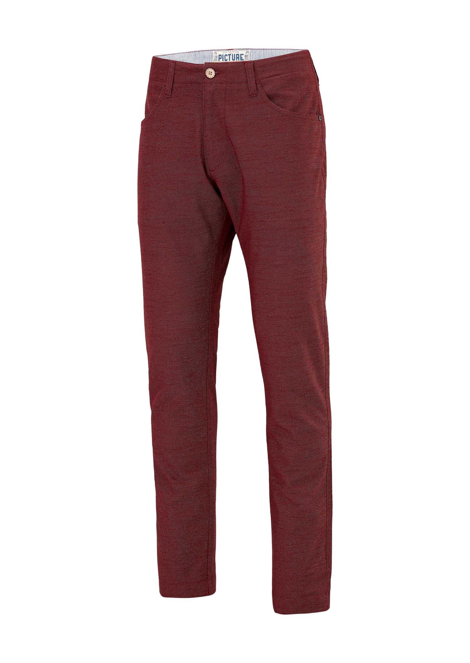 fournir beaucoup de dernier style beau lustre Pantalon chino PICTURE Feodor Melange Bordeaux