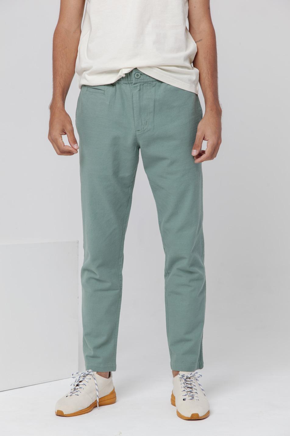 cheap prices super popular best sneakers Pantalon coton bio THINKING MU Travel vert