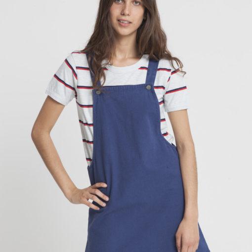 robe courte bleu marine coton bio thinking mu
