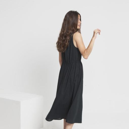 robe longue été noire thinking mu