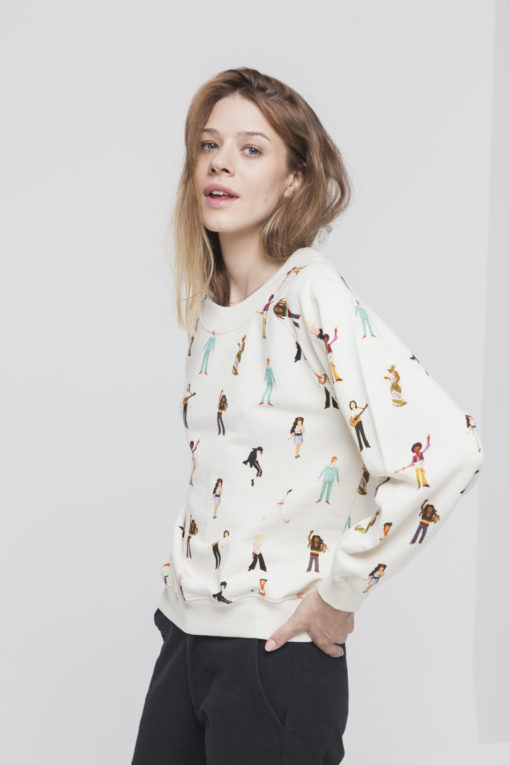 sweat coton bio femme thinking mu mitos