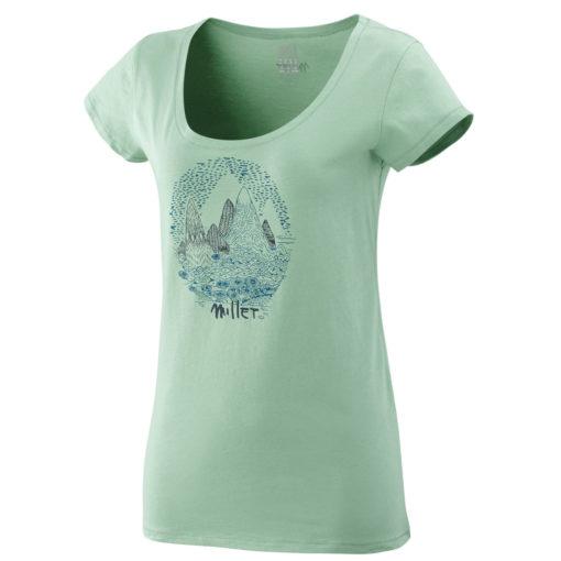 tshirt coton bio femme millet vert