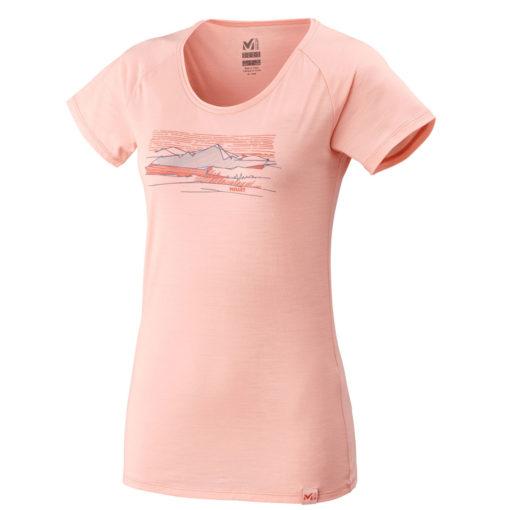 tshirt laine femme rose millet