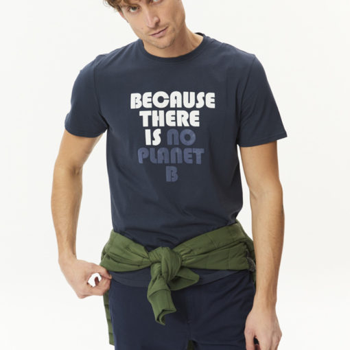 tshirt coton bio homme bleu marine ecoalf