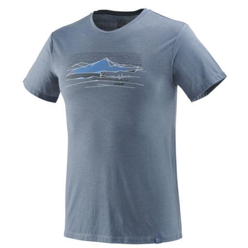 tshirt homme millet laine bleu gris