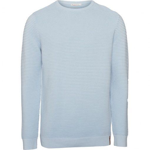 pull coton bio homme bleu ciel