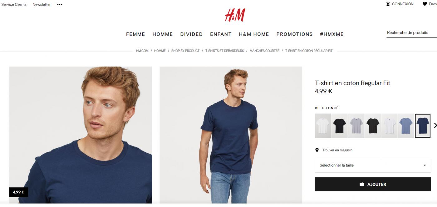 HM tshirt pas cher 1400x663 - Comment s'habiller éco-responsable en dépensant moins ?