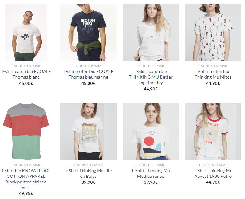 t shirt coton bio - Comment s'habiller éco-responsable en dépensant moins ?