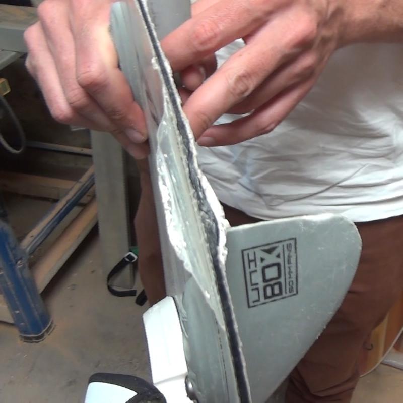 choc planche de kite à réparer