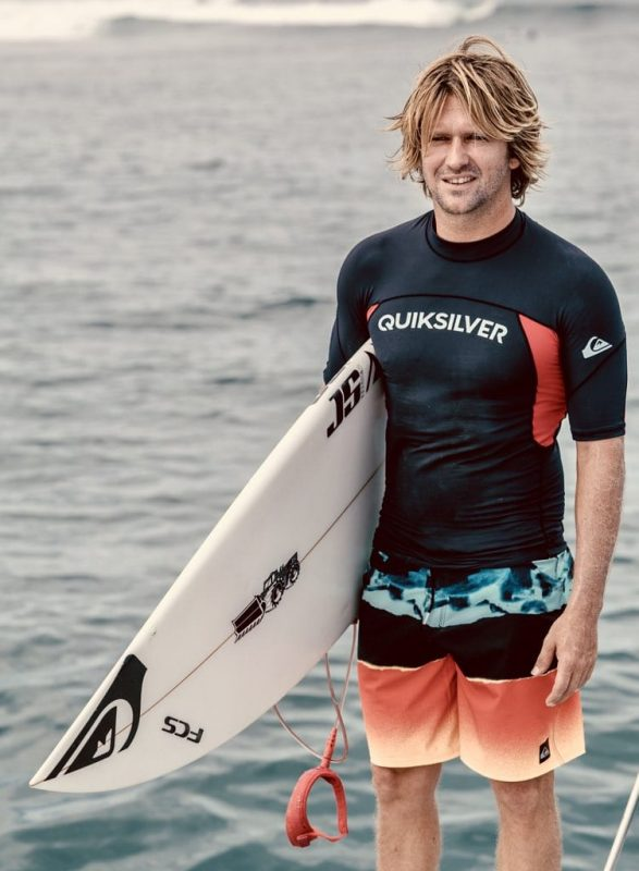 Tom avant une bonne session de surf