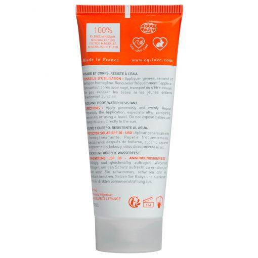 crème solaire minérale bio spf 30 EQ