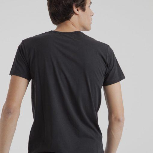 t-shirt homme noir coton bio
