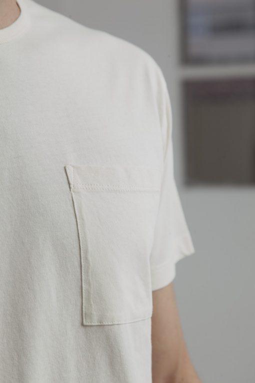 t-shirt homme blanc coton bio