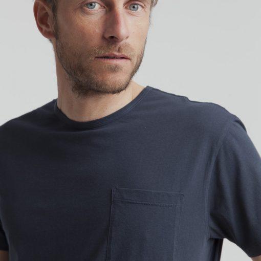 t-shirt homme bleu marine coton bio