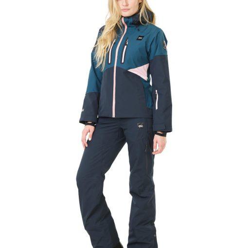 pantalon ski femme bleu marine picture