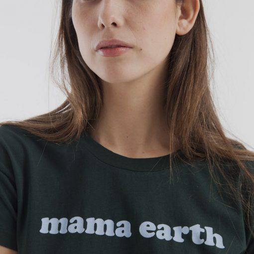 tshirt femme coton bio vert