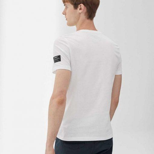 tshirt homme blanc ecoalf fibres recyclées