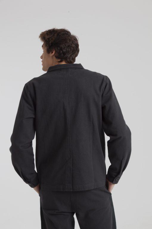 veste noire homme coton bio