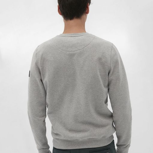 sweat homme gris éco-responsable