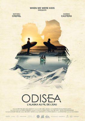 """affiche du film Odisea """"L'Alaska au fil de l'eau"""" de damien castera et de mathieu crepel"""