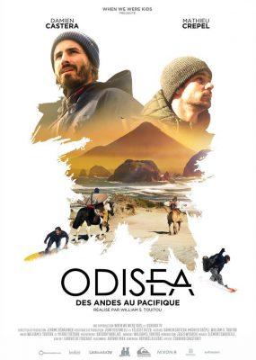 """affiche du film Odisea """"des andes au pacifique"""" de damien castera et de mathieu crepel"""
