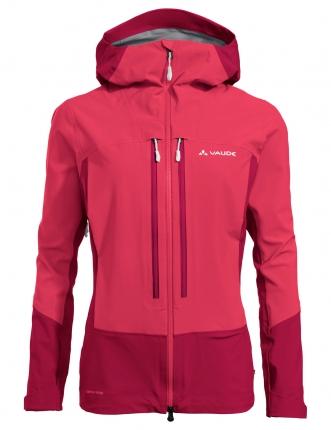 veste de ski de la marque Vaude. C'est le modèle Shuksan 3L femme rose