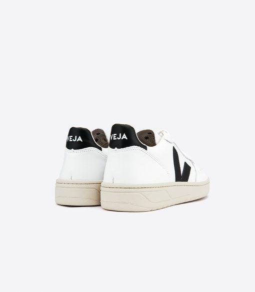 Chaussures VEJA V10 leather Extra White Black
