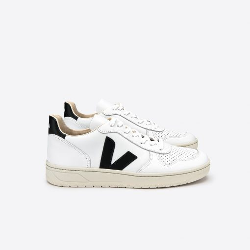 Chaussures VEJA V10 leather Extra White Black