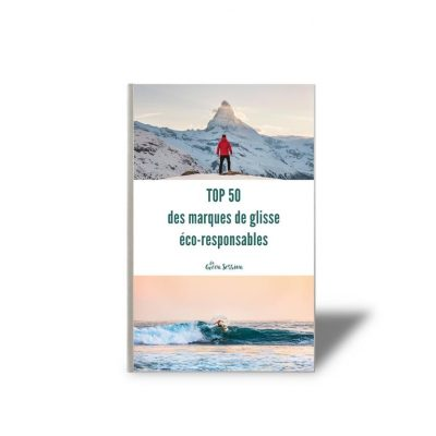 page de garde du ebook top 50 des marques de glisses éco-responsables