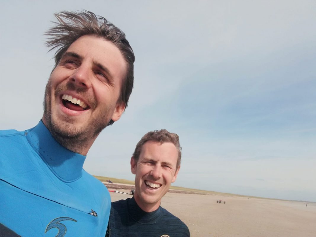 photo de Pierre et Vincent à la plage