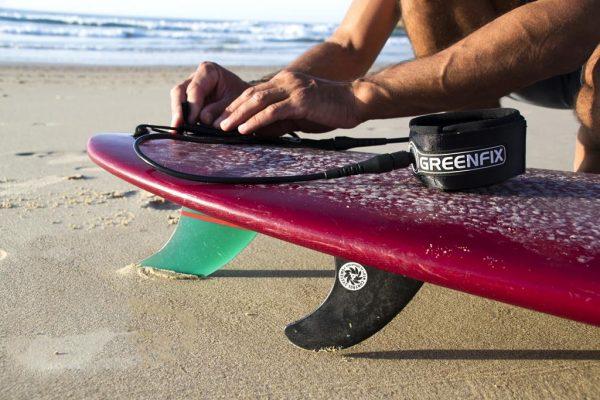 leash et wax de surf greenfix