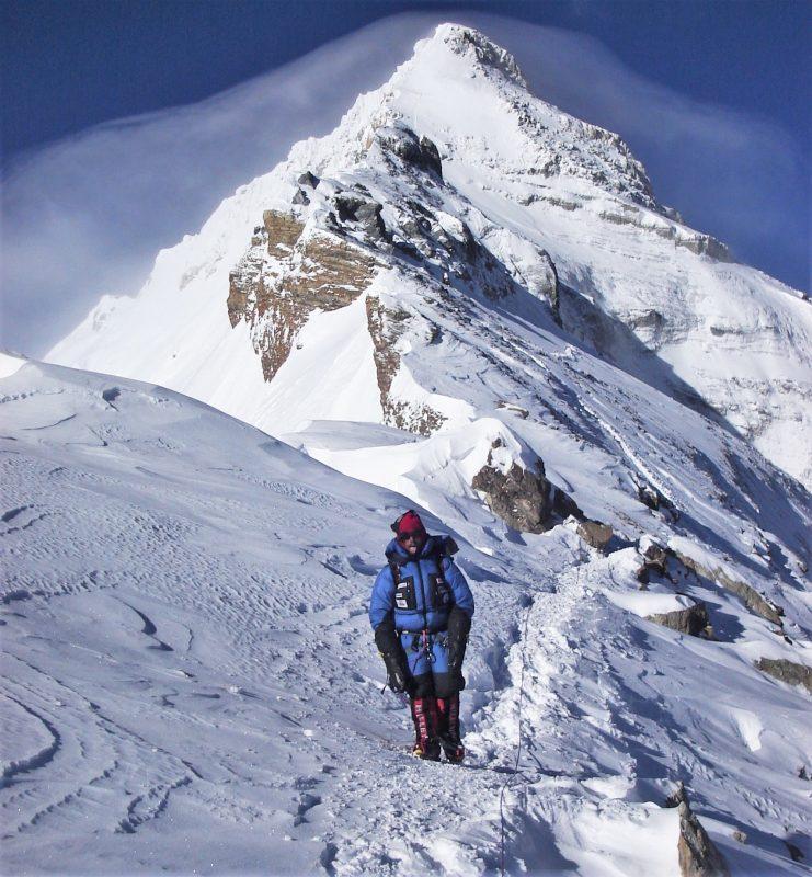 Cedric Cointre au sommet de l'Everest