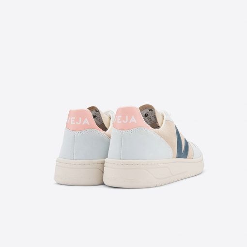 chaussures veja v10 femme suede multico almond california