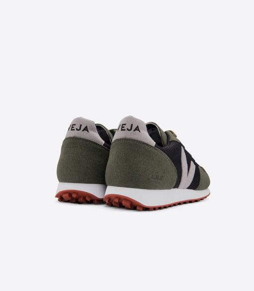 chaussures veja homme sdu b-mesh black oxford grey olive
