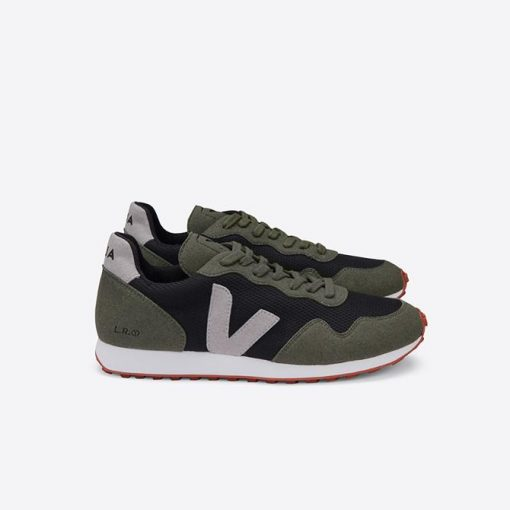 chaussures veja homme sdu b-mesh black oxford grey olive