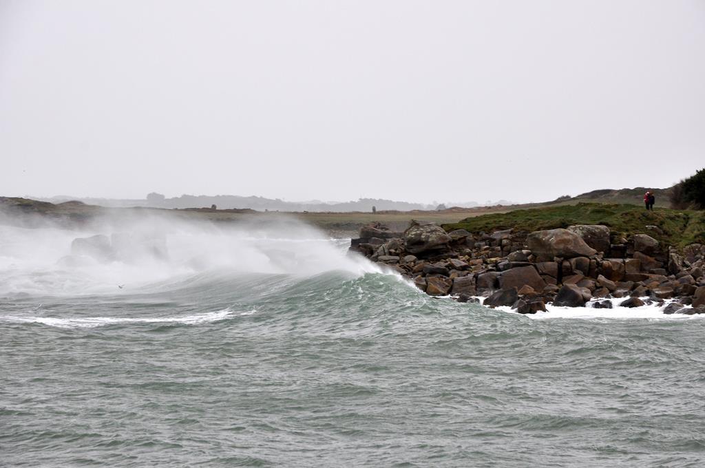 tempête finistère nord mer déchainée