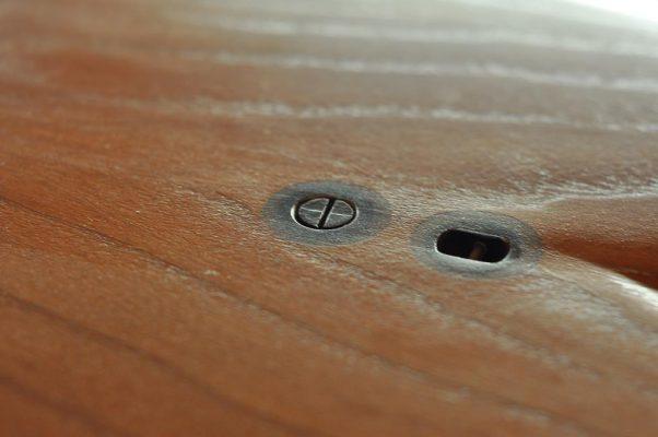 vis de décompression planche de surf en bois