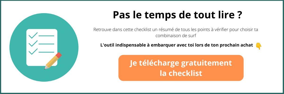 bouton téléchargement checklist achat combinaison surf